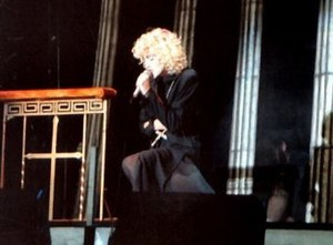 "Live to Tell - Madonna performing a medley of ""Live to Tell"" and ""Oh Father"" during the Blond Ambition World Tour in 1990"