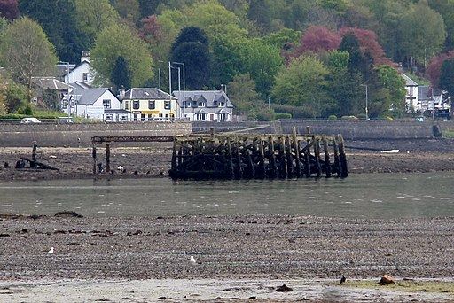 Old Arrochar Pier, Loch Long, Argyll and Bute, Scotlland