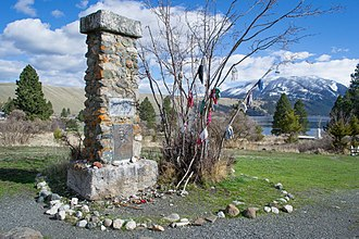 Wallowa Lake - A memorial to Nez Perce Chief Joseph overlooking the lake.