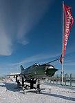 Old Finnish Air Force MiG-21BIS fighter on the roof of Verkkokauppa.com - panoramio (1).jpg