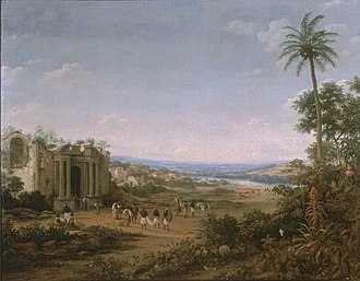 Matias de Albuquerque, Count of Alegrete - The ruins of the cathedral at Olinda after the Dutch burned it