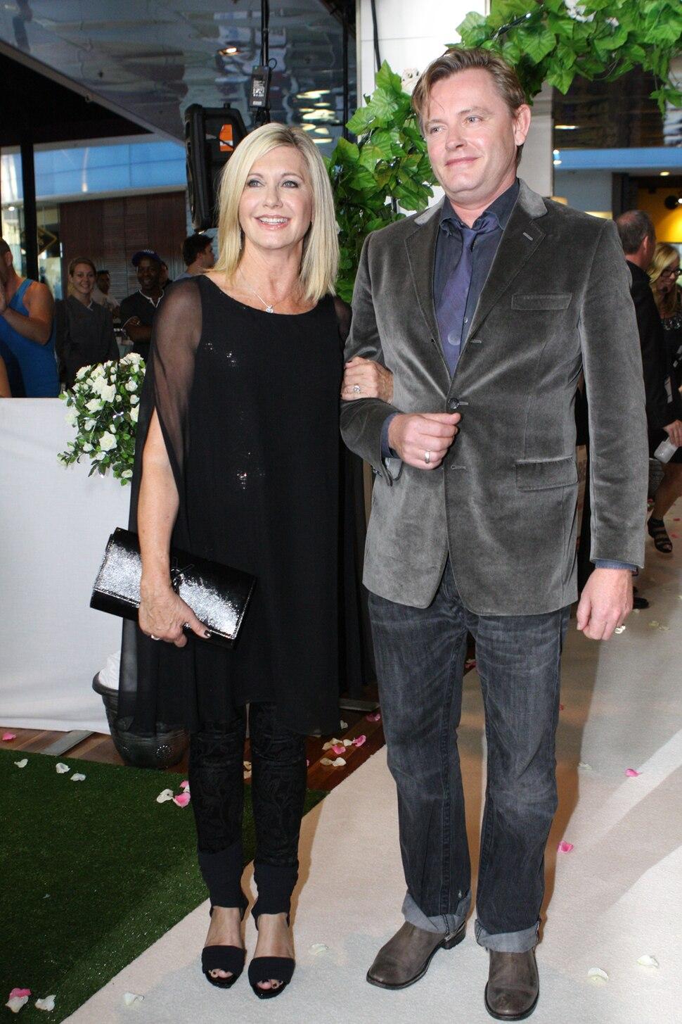 Olivia Newton-John and Stephan Elliott in 2012