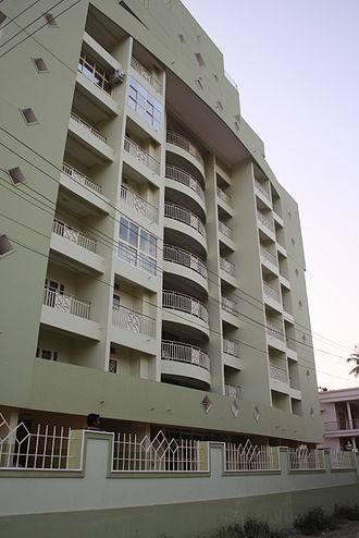 Ollur - A multi-storey apartment building in Ollur town