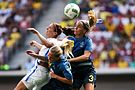 Olympic Games 2016 match between the women's teams of the United States - Sweden. 14.jpg