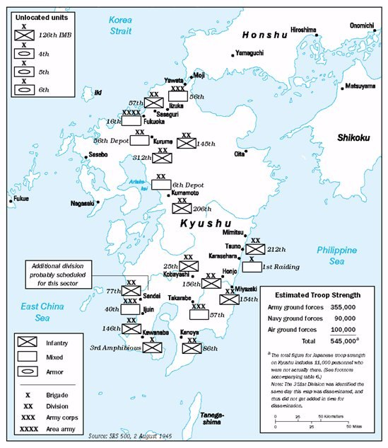Operation Downfall - Estimated Troops 02