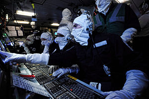 Thursday War - Image: Operations Room Staff Onboard HMS Illustrious During an Exercise MOD 45153376
