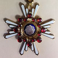 Order of the Sacred Treasure, Third Class, (Japan decoration) - medal closeup.JPG