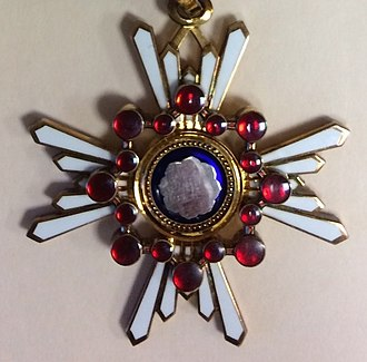 Order of the Sacred Treasure - Image: Order of the Sacred Treasure, Third Class, (Japan decoration) medal closeup