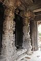 Ornate pillars in Gaurishvara temple at Yelandur.JPG
