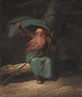 Ossian Singing, painted by Nicolai Abildgaard