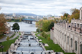 The lock between Chateau Laurier and Parliamen...