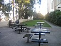 Outdoor tables at Lone Mountain College.jpg