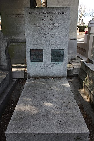 Paul Lafargue - Tomb at the division 76 (near the Communards' Wall) of the Père Lachaise Cemetery, Paris.