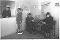 "PASSENGER HALL OF THE PALESTINE AIRWAYS LINE AT THE AERODROME SDE DOV IN TEL AVIV. אולם הנוסעים של חברת ""נתיבי אויר ארץ ישראל"" בנמל התעופה שדה דב בתל D2-054.jpg"