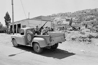 PFLP patrol in Amman, Jordan, 12 June 1970