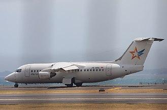 2009 Aviastar British Aerospace 146 crash - Image: PK BRE British Aerospace B Ae 146 200 (cn E2139) ACE Transvalair Aviastar. (8008363427)