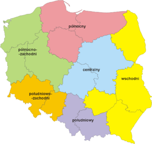 NUTS statistical regions of Poland - NUTS 1 divisions in Poland