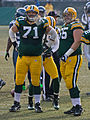 Packers' linemen Josh Sitton (71) and Mark Tauscher (65).jpg