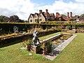 Packwood House - Fountain, Gardens and House.JPG