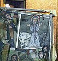Painting of Saint Abbo with Lions and Leopards, Church of Debre Sina, Lalibela, Ethiopia (3234412919).jpg