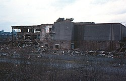 Paisley Abercorn goods station being demolished - geograph.org.uk - 531106.jpg