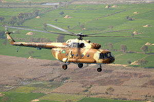 2015 Pakistan Army Mil Mi-17 crash - A Pakistan Army Mil Mi-17 similar to the aircraft involved in the accident