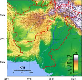 Topography of Pakistan