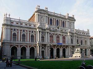 Palazzo Carignano - The 19th century rear façade of the Palazzo Carignano on Piazza Carlo Alberto.