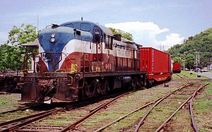 Panama Canal Railway - Panama Canal Railway in 1992