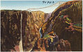 Panorama of the Royal Gorge, Colo., one of the world's greatest chasms, showing the world's steepest incline railway and the world's highest bridge. (7725170676).jpg