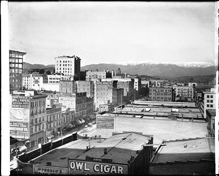 Panoramic view of Los Angeles looking north from the Pacific Electric Building, ca. January 1, 1907 Panoramic view of Los Angeles looking north from the Pacific Electric building, ca. January 1, 1907 (CHS-5816).jpg