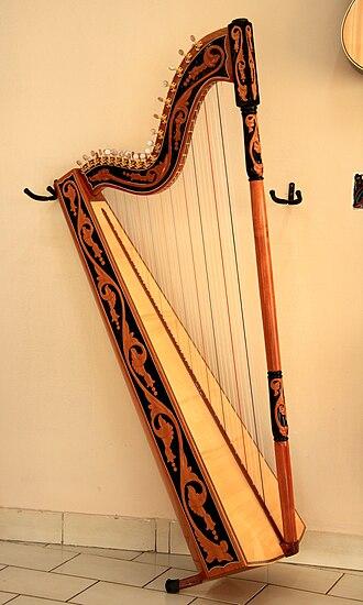 Paraguayan harp - Image: Paraguayan harp