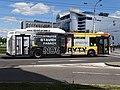 Pardubice, Palackého třída u Masarykova náměstí, autobus 202.jpg