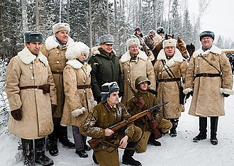 "Kubinka - Russian Minister of Defence Sergey Shoygu at the opening of the memorial complex ""Partizan Village"" in the area of Patriot Park"