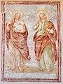 Paternion Kreuzen Kreuzwegkapelle hl. Johannes Fresko Johannes d T und Johannes Evangelist 06042018 2891.jpg
