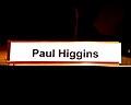 Paul Higgins nameplate 2012 FDSC (8077662226).jpg