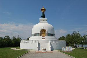 Buddhism in Austria - The Peace Pagoda, a stupa in Vienna, Austria.