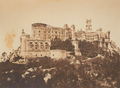 Pena Palace with its main dome and adjacent structures still under construction (c. 1850-1854).png