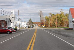 Pennsylvania Route 924 north in Sheppton
