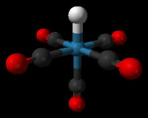 Pentacarbonylhydridorhenium - Image: Pentacarbonylhydrido rhenium 3D balls