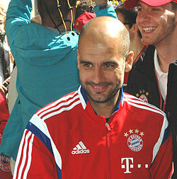 File photo of Pep Guardiola, 2014. Image: Harald Bischoff.