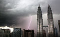 Petronas Towers during lightning storm (3324764671).jpg