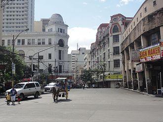 Escolta Street - Escolta Street, looking west from Plaza Santa Cruz.