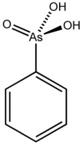 Stereo structural formula of phenylarsonic acid