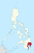 Map of the Philippines highlighting the Davao Region