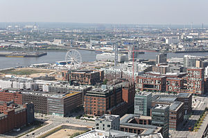 HafenCity - Überseequartier, one of the new quarters of HafenCity.