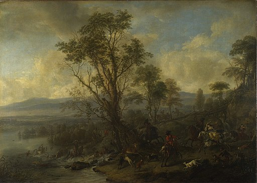 Philips Wouwerman - A Stag Hunt (c.1665)
