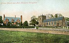 Postcard Picture Forton Hall And All Saints Church