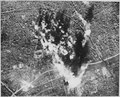 Photograph made from B-17 Flying Fortress of the 8th AAF Bomber Command on 31 December when they attacked the vital... - NARA - 535713.tif