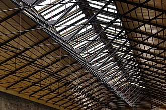 A roof was added to the station in the late 2000s. Pickering railway station MMB 08.jpg